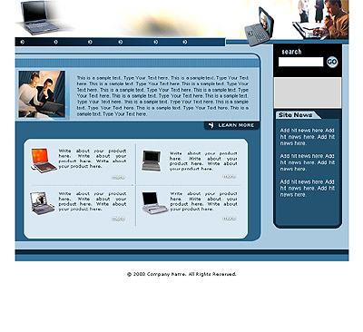 Website Shopping Cart Template - Computers - t-0079