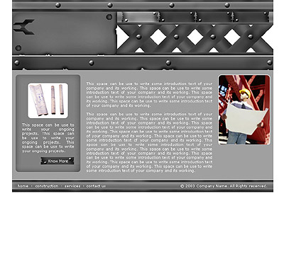 Website Shopping Cart Templates - Industrial - t-0159