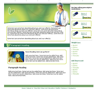 Ecommerce Template Medical -t-0093