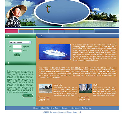 Ecommerce Template Travel -t-0157