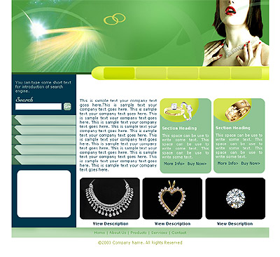 Ecommerce Template Jewelry -t-0167