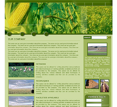 Website Shopping Cart Template - Agriculture - t-0008